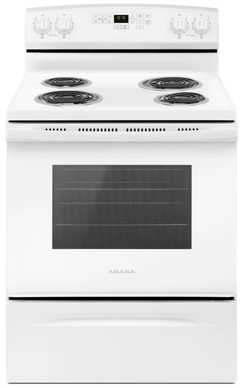 kitchen stoves aid 6000 hd ranges the brick ft freestanding electric range yacr4503sfw cuisiniere electrique amovible amana