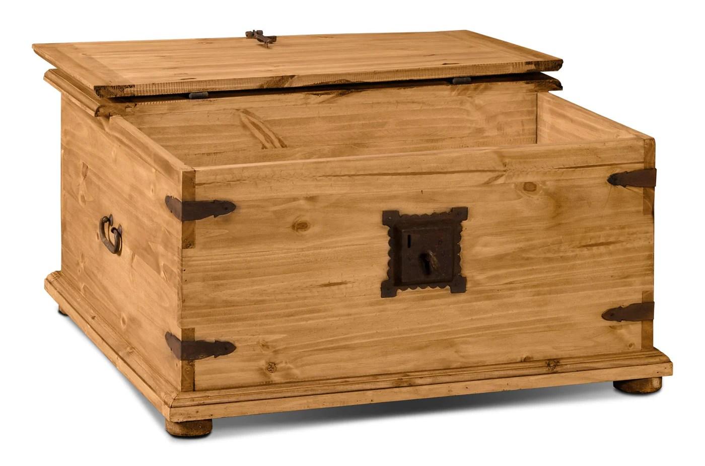 santa fe rusticos solid pine trunk style coffee table