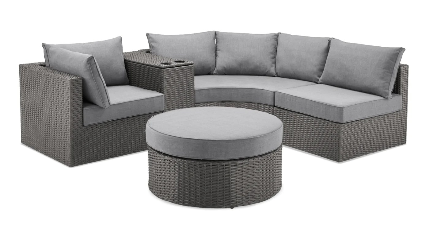 morris 5 piece curved patio package