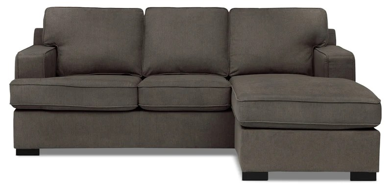 corner sofa bed west london vilasund cover for sofabed with chaise beds and futons the brick milo 2 piece linen look fabric sectional gravel
