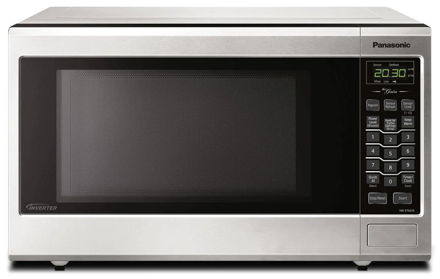 panasonic 1 2 cu ft countertop microwave nnst663sc