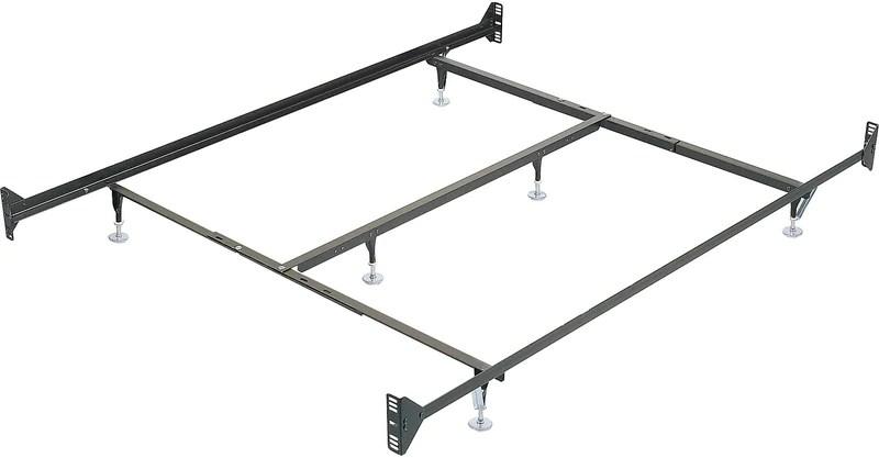 queen metal glide bedframe w headboard footboard attachment chalit coulissant en metal pour