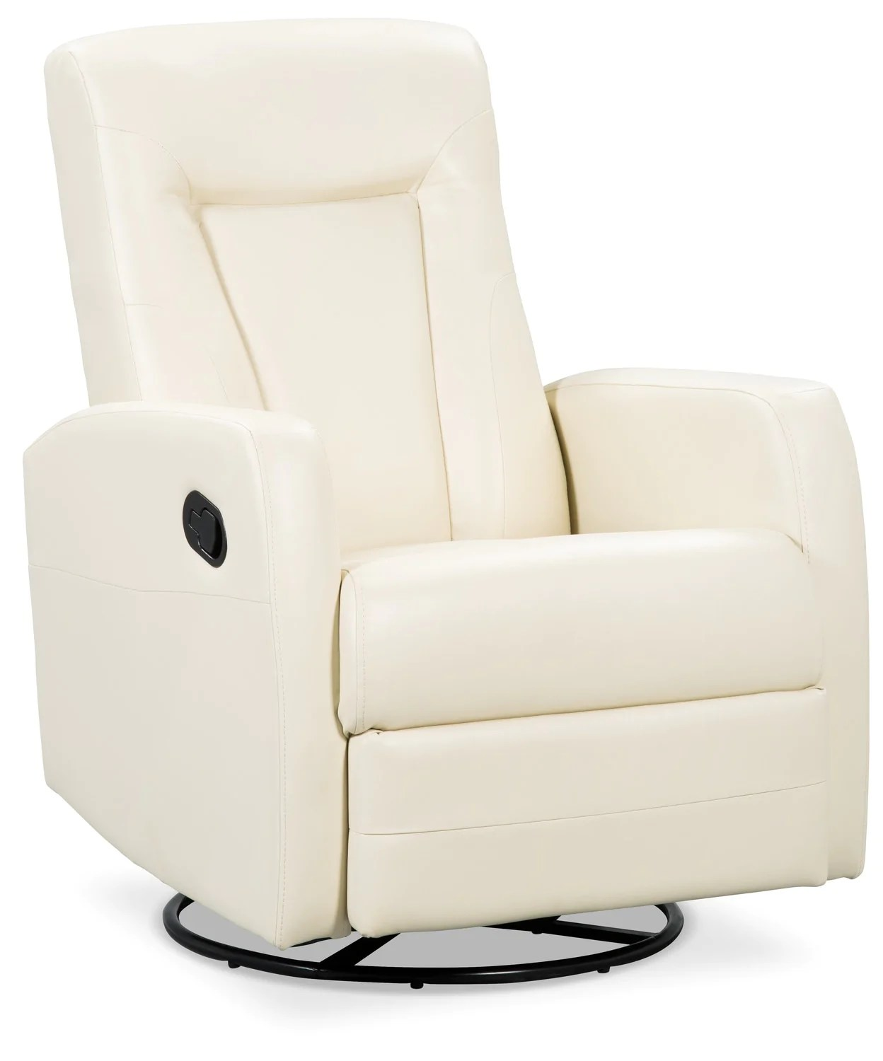 Swivel Recliner Chairs Molly Bonded Leather Swivel Recliner Ivory