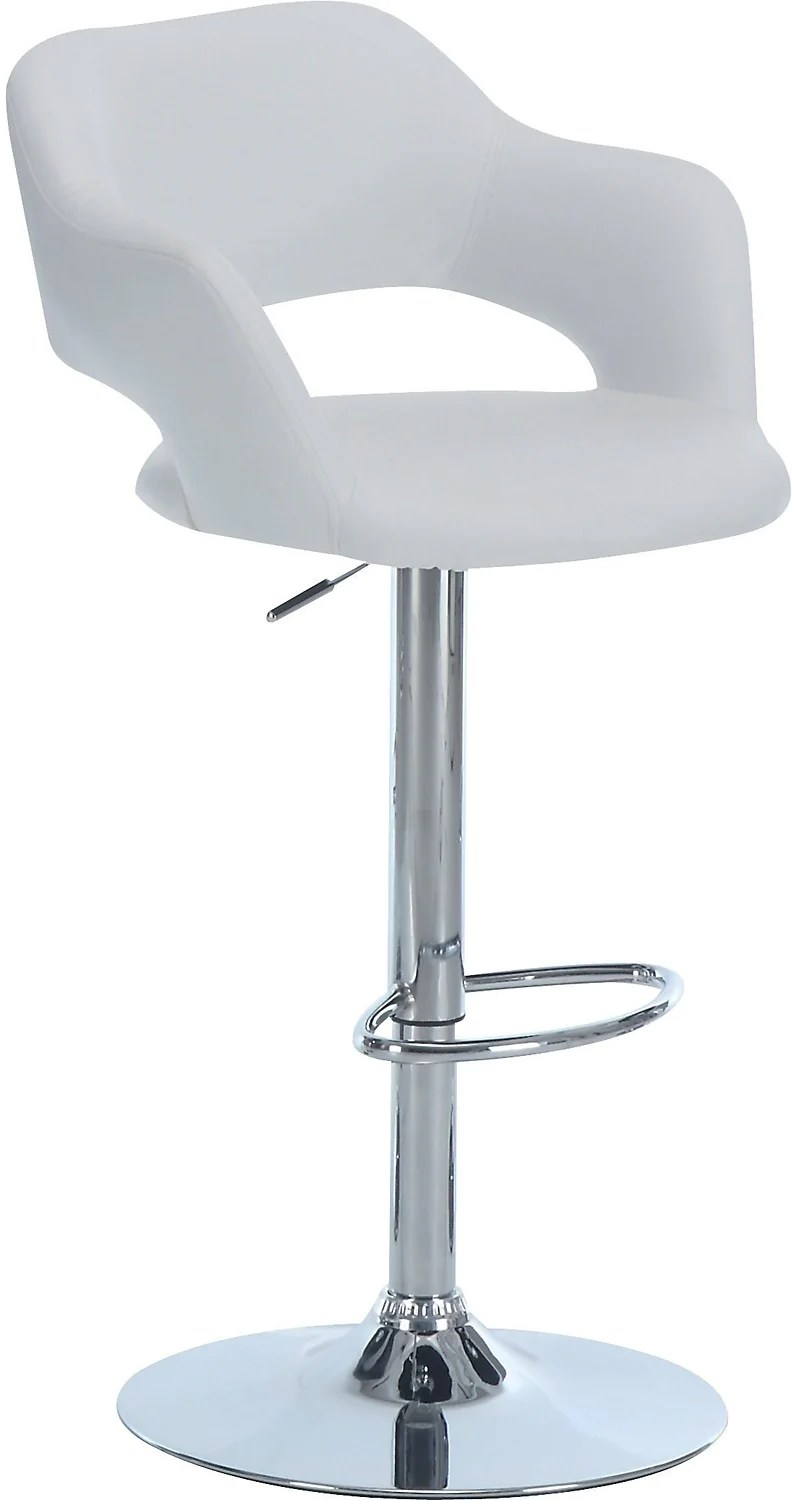 bar stool chairs kitchen side stools the brick white hydraulic tabouret hydraulique blanc