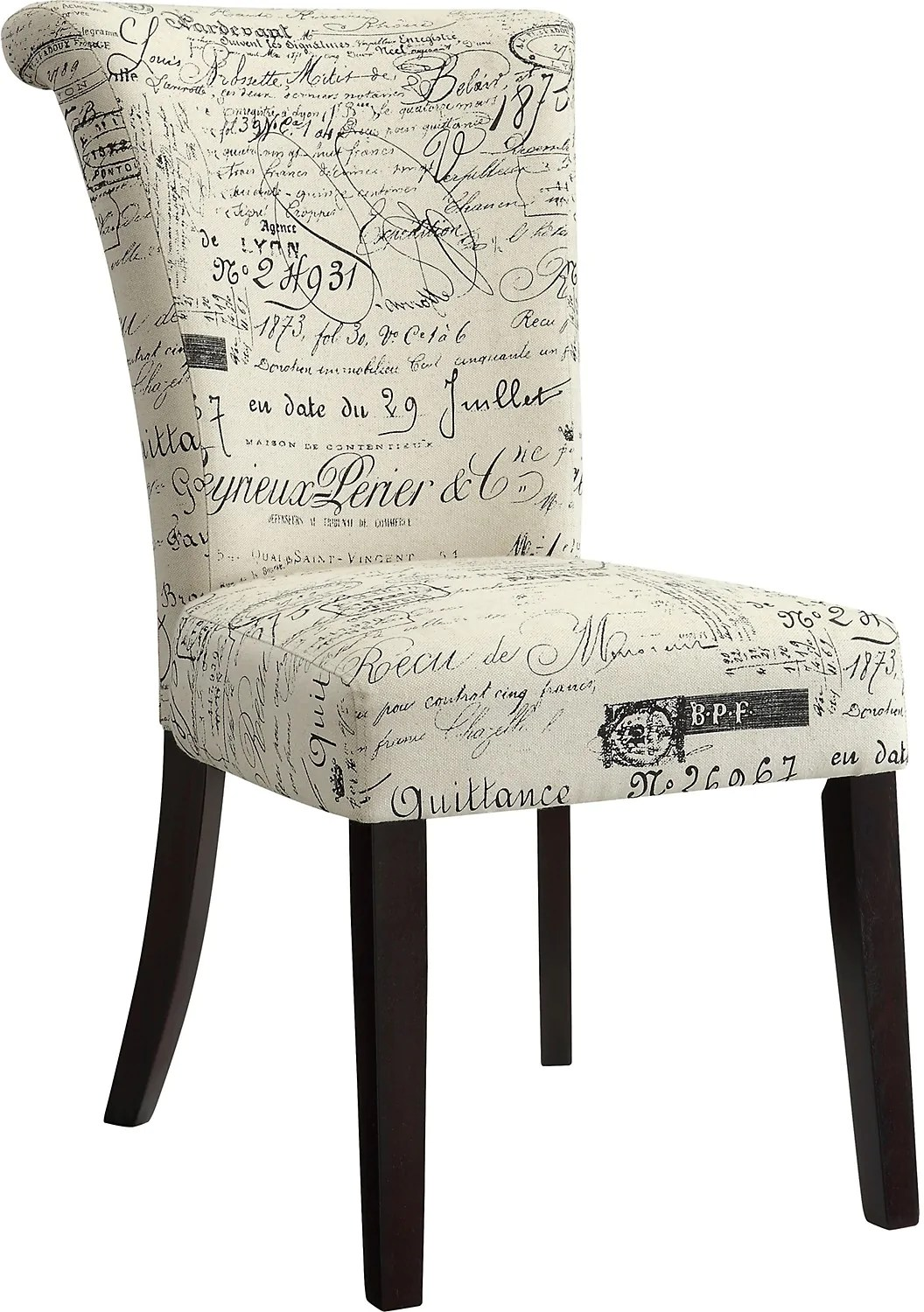 Script Chair French Script Accent Dining Chair