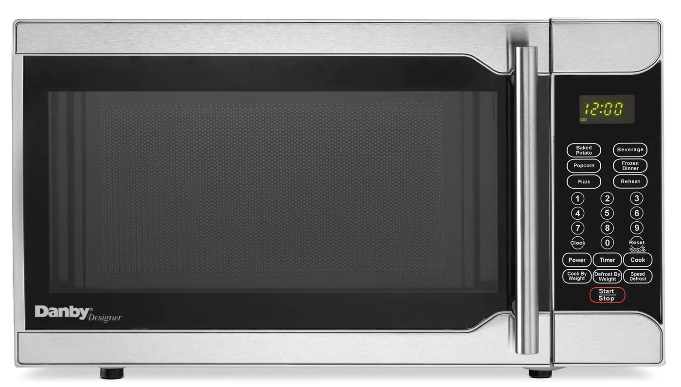 danby designer 0 7 cu ft counter top microwave dmw07a2ssdd