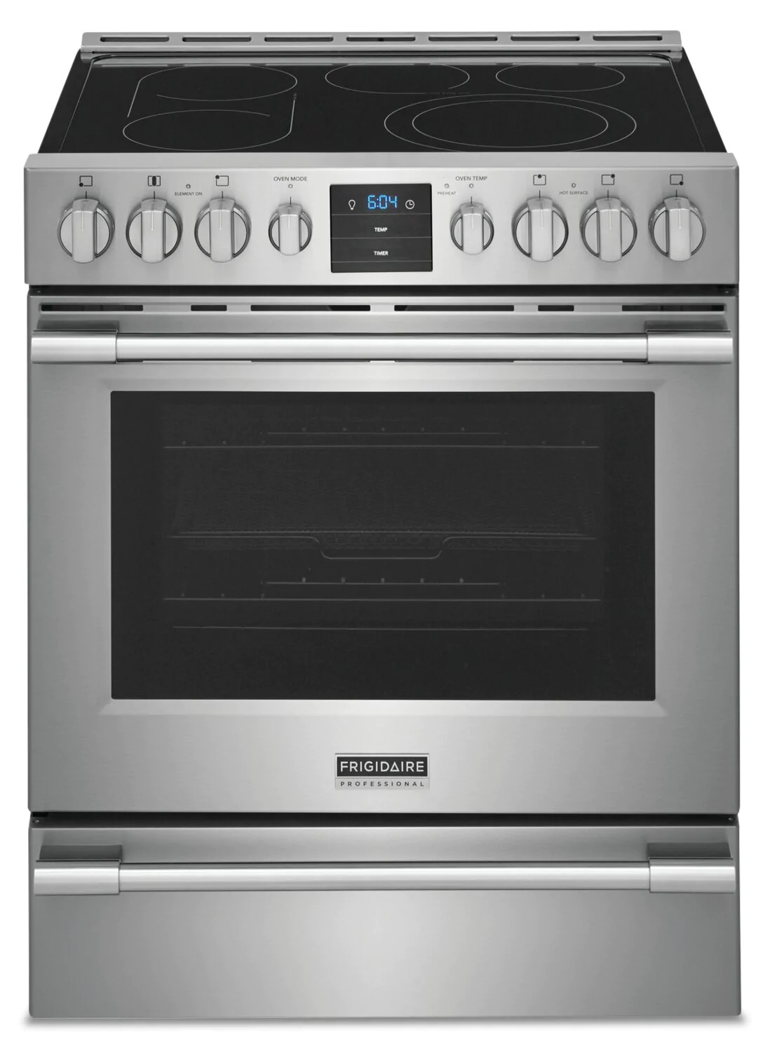 frigidaire professional 5 4 cu ft electric range with air fry pcfe307caf