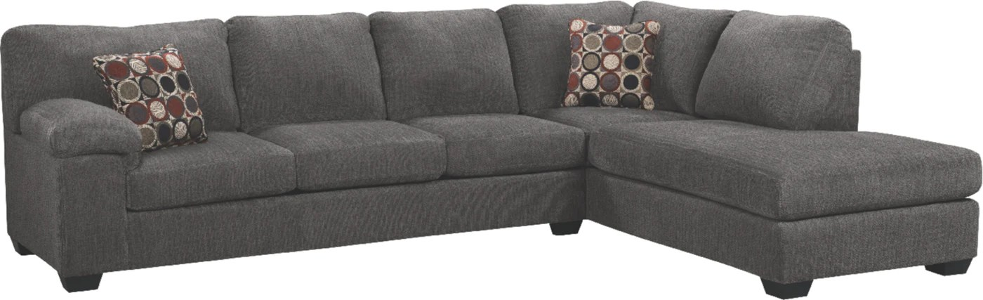 morty 2 piece chenille right facing sectional grey