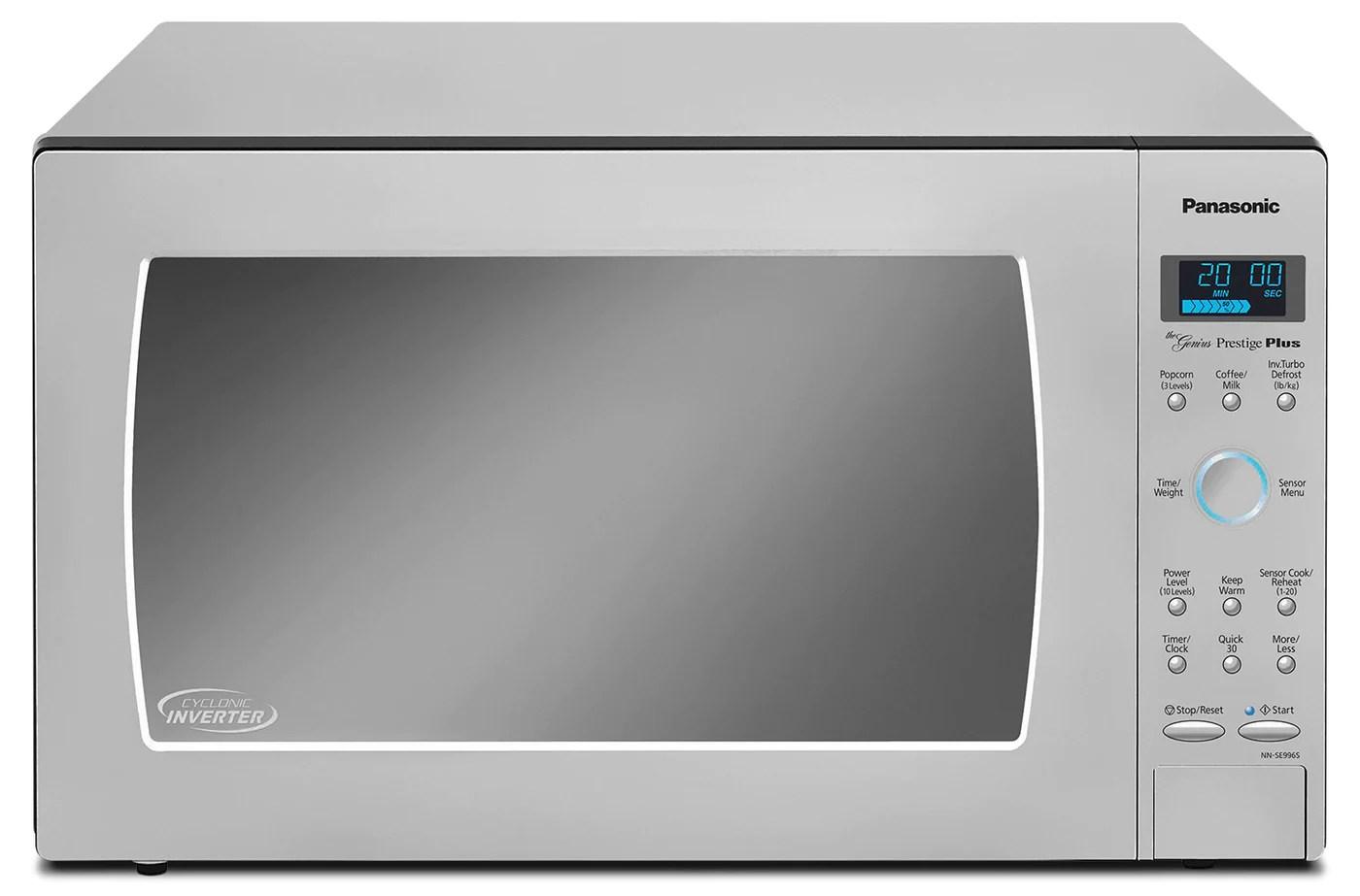 panasonic genius prestige 2 2 cu ft countertop microwave nn se996s