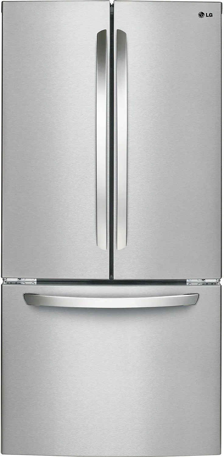 kitchen deals refurbish cabinets the brick lg 24 cu ft french door refrigerator with smart cooling system stainless steel