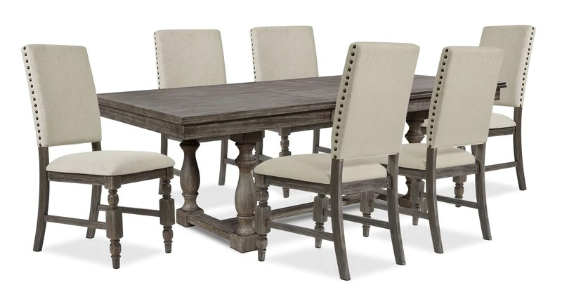 kitchen dining set whitewash table sets the brick aspen 7 piece package ensemble de salle a manger pieces