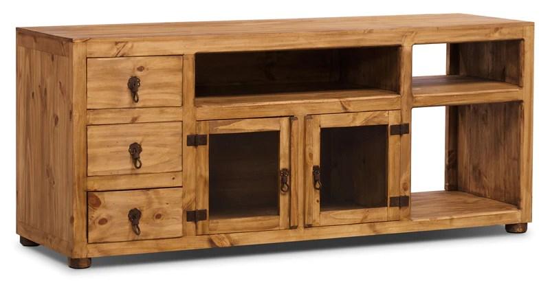 santa fe rusticos 63 solid pine tv stand meuble tv santa fe rusticos en