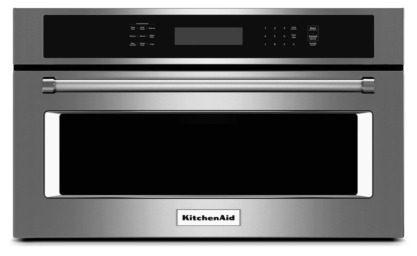 kitchenaid 1 4 cu ft 27 built in convection microwave oven stainless steel
