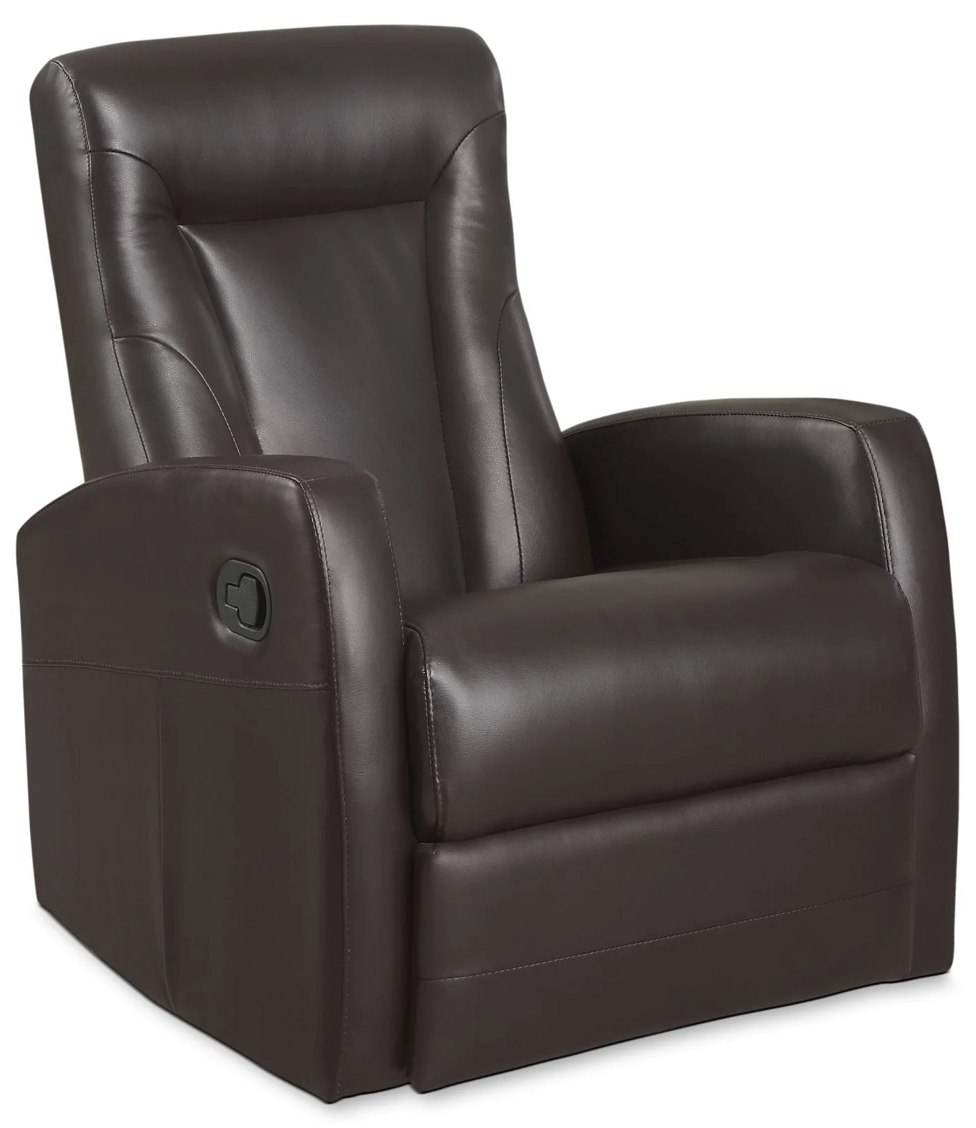 Swivel Recliner Chairs Molly Bonded Leather Swivel Recliner Brown