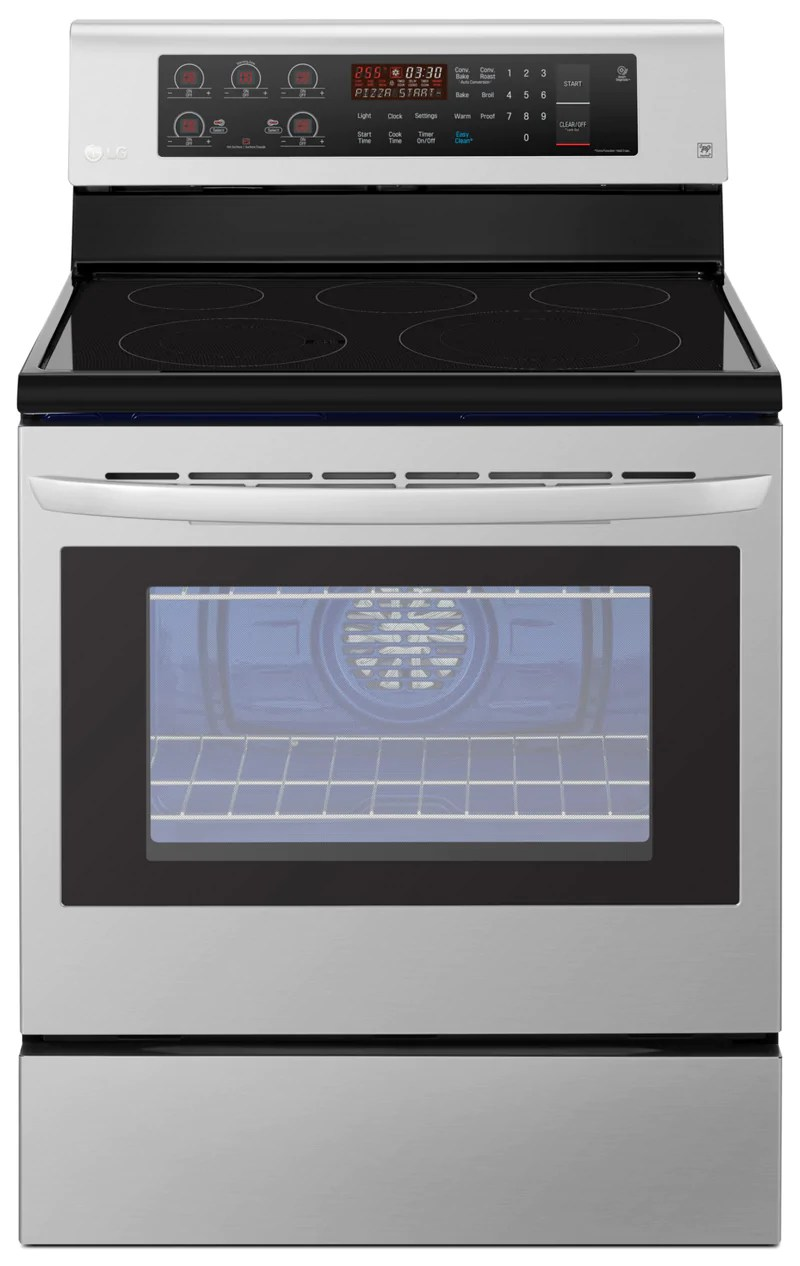 kitchen aid gas stove how much do cabinets cost the brick ft freestanding convection electric range lre3193st