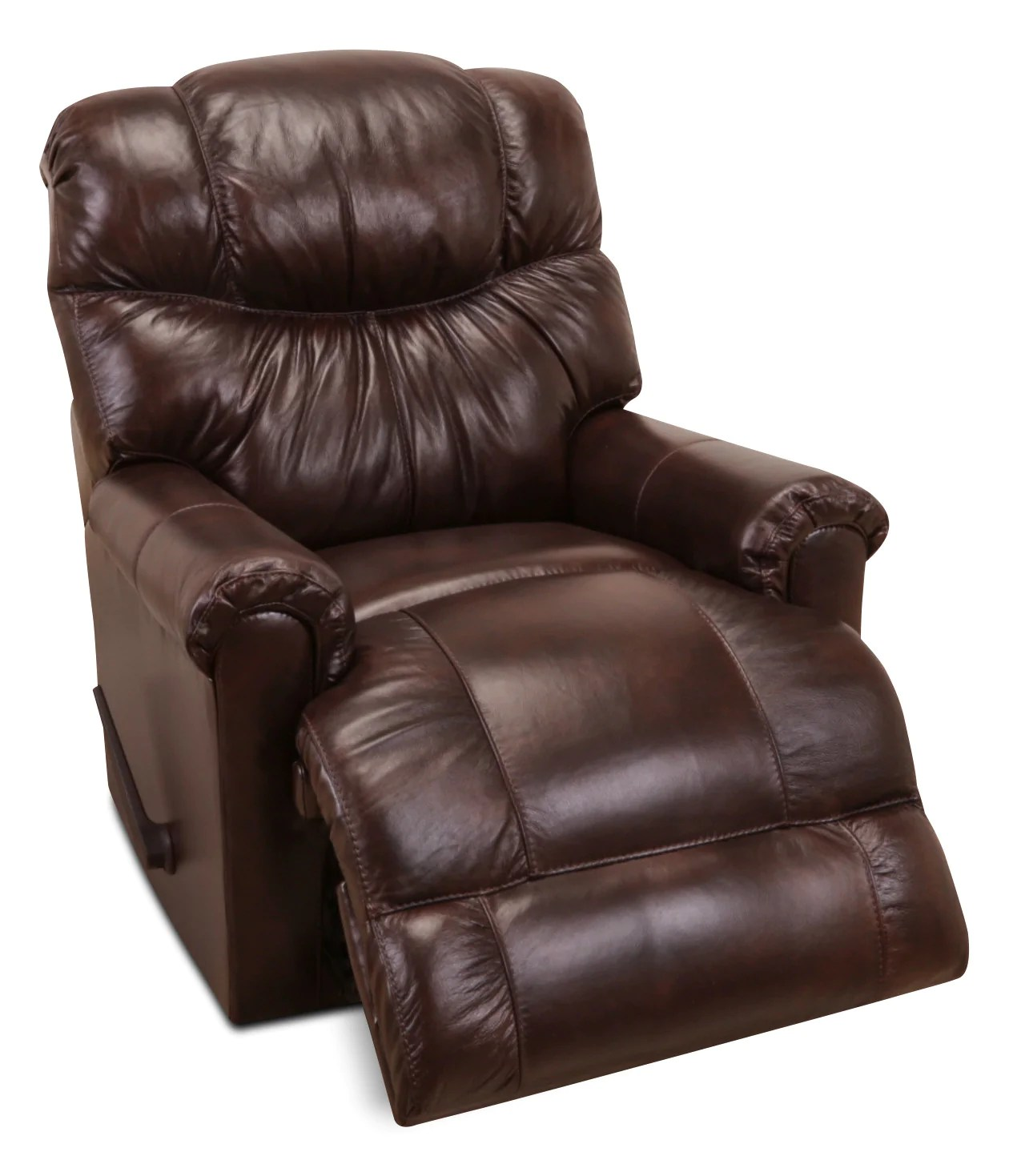Leather Rocking Chair 4524 Genuine Leather Rocker Reclining Chair Java