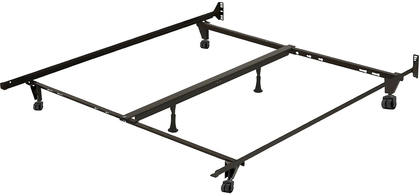 Deluxe Full Queen King Metal Bed Frame With Caster Wheels The Brick
