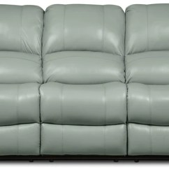 Grey Power Reclining Sofa Restoration Hardware Tufted Linen Sofas The Brick Kobe Genuine Leather Blue Inclinable En Cuir Veritable Bleu