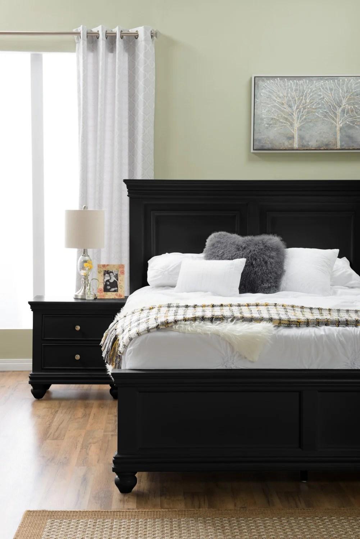 bridgeport queen bed black