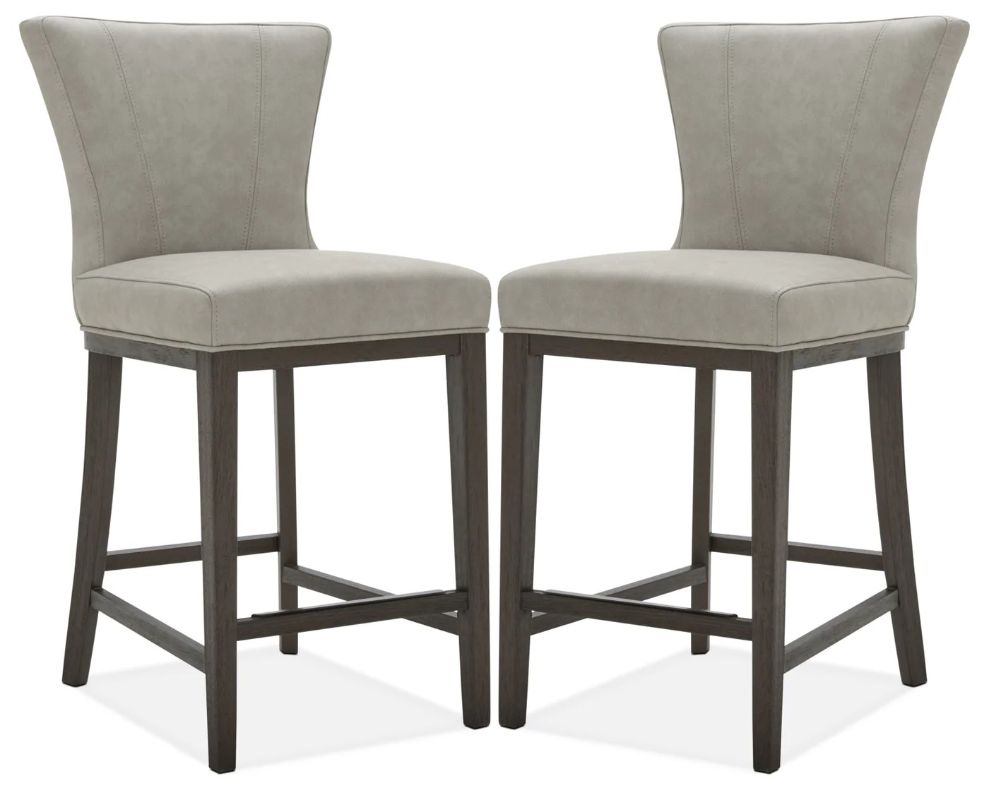 Counter Height Chairs With Arms Quinn Counter Height Stool Set Of 2 Taupe