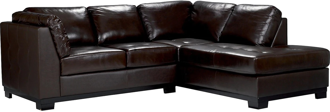2 piece brown leather sofa sofaworks regent oakdale right sectional the brick sectionnel de droite pieces en tap to expand