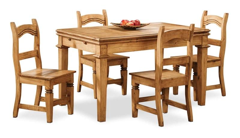 santa fe rusticos 5 piece dining package ensemble de salle a manger santa fe