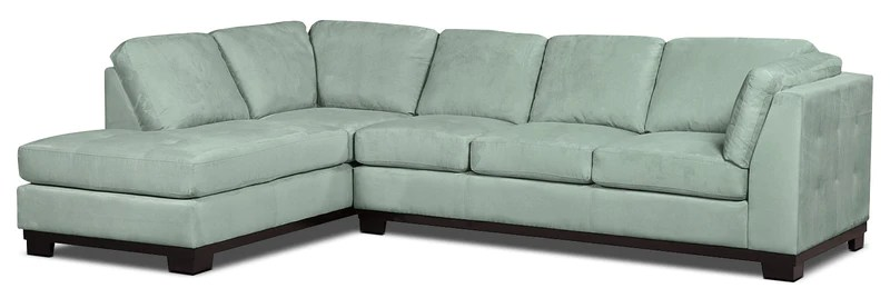 aqua sofa modern white faux leather oakdale 2 piece microsuede left facing sectional with bed