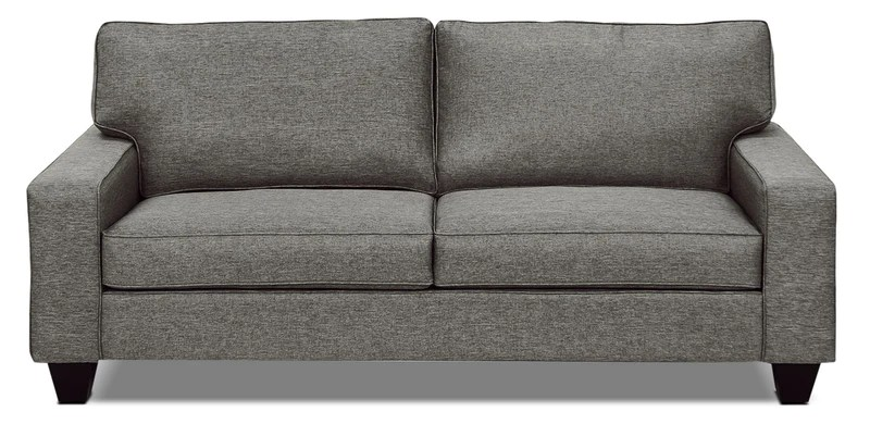 designed2b dax linen look fabric sofa sophisticate pepper sofa dax en tissu d