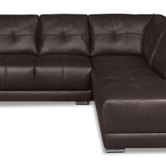 2 Piece Brown Leather Sofa Grey Linen Sectional Rylee Genuine Right Facing The Brick Previous Next