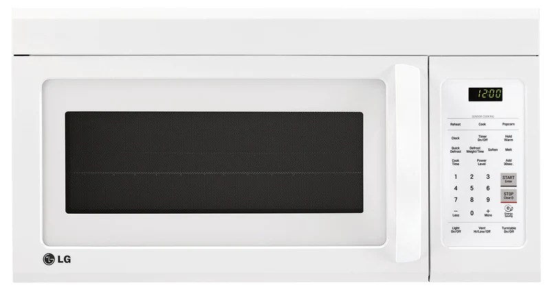 lg kitchen appliances faucet hose extension white over the range microwave 1 8 cu ft lmv1852sw furniture ca