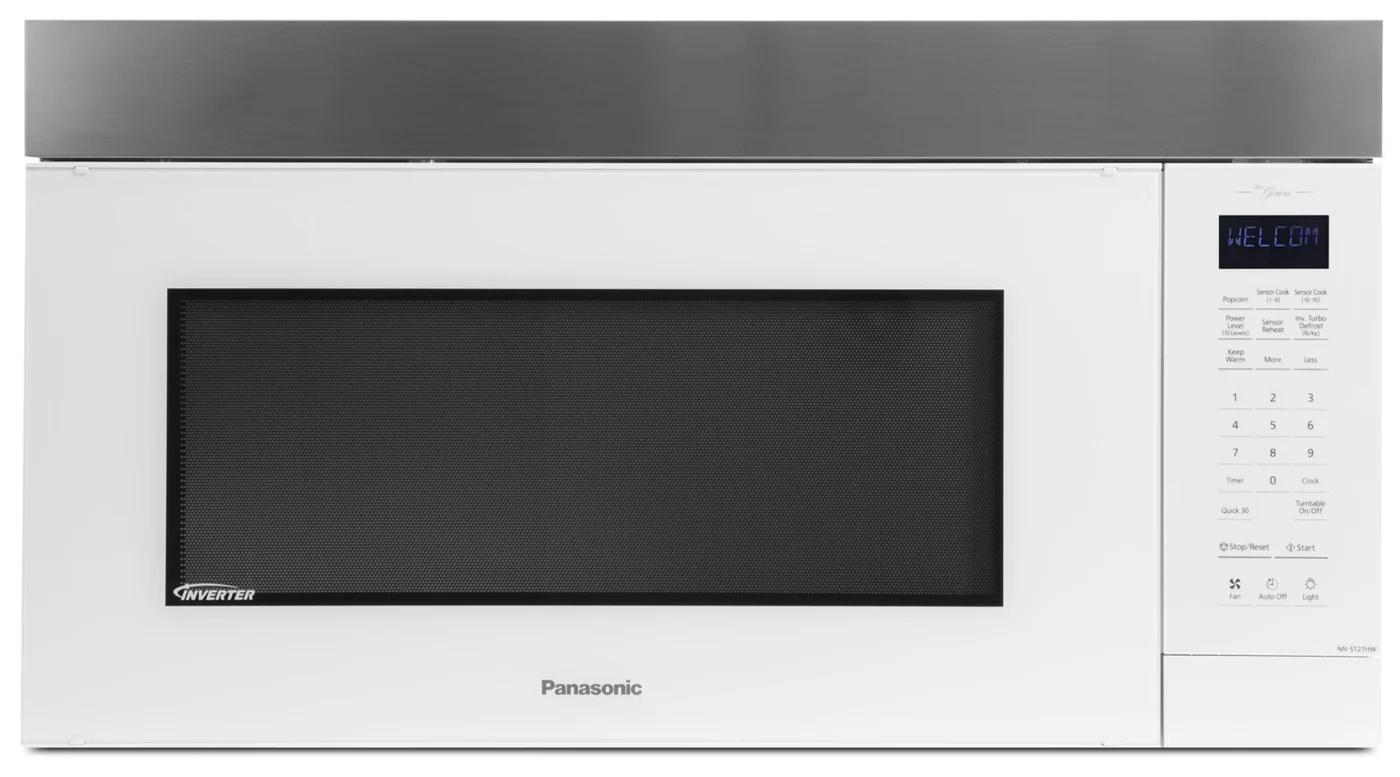 panasonic genius inverter over the range microwave oven nn st27hw