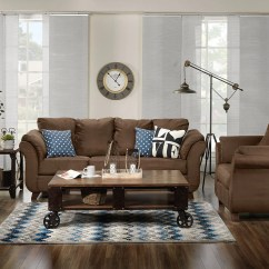 Living Room Package Sets The Brick Breton 2 Pc W Chair Chocolate