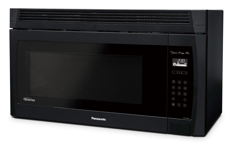 panasonic 2 0 cu ft genius prestige plus over the range microwave oven black