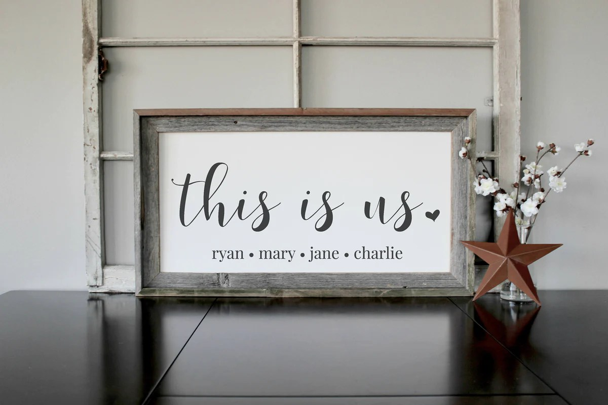 Wood Sign - Personalized Family