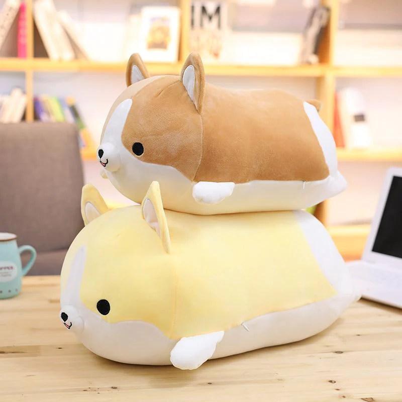 cute corgi plush pillows