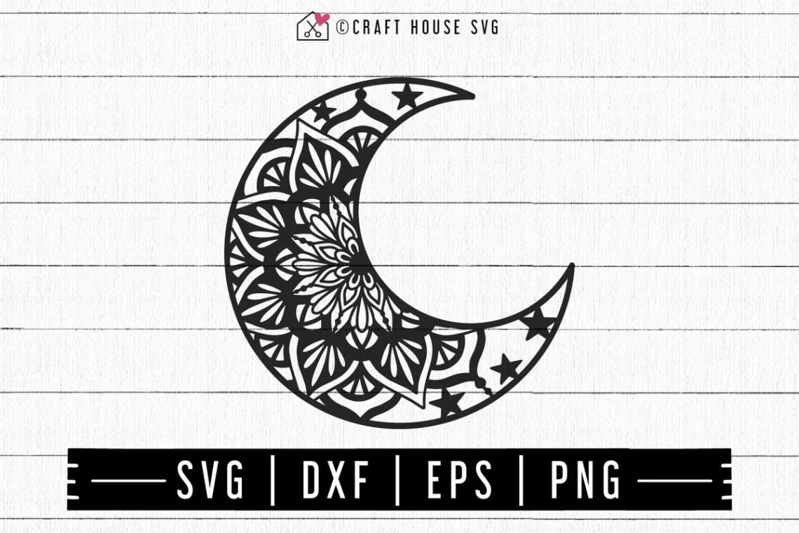 Download FREE Moon Mandala SVG   FB106 - Craft House SVG