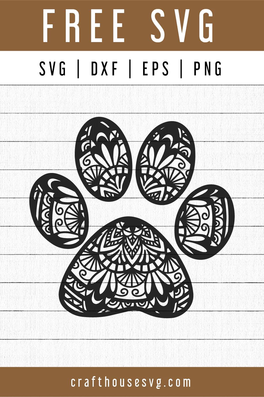 Dog Paw Svg Free : Print, Mandala, FB107, Craft, House