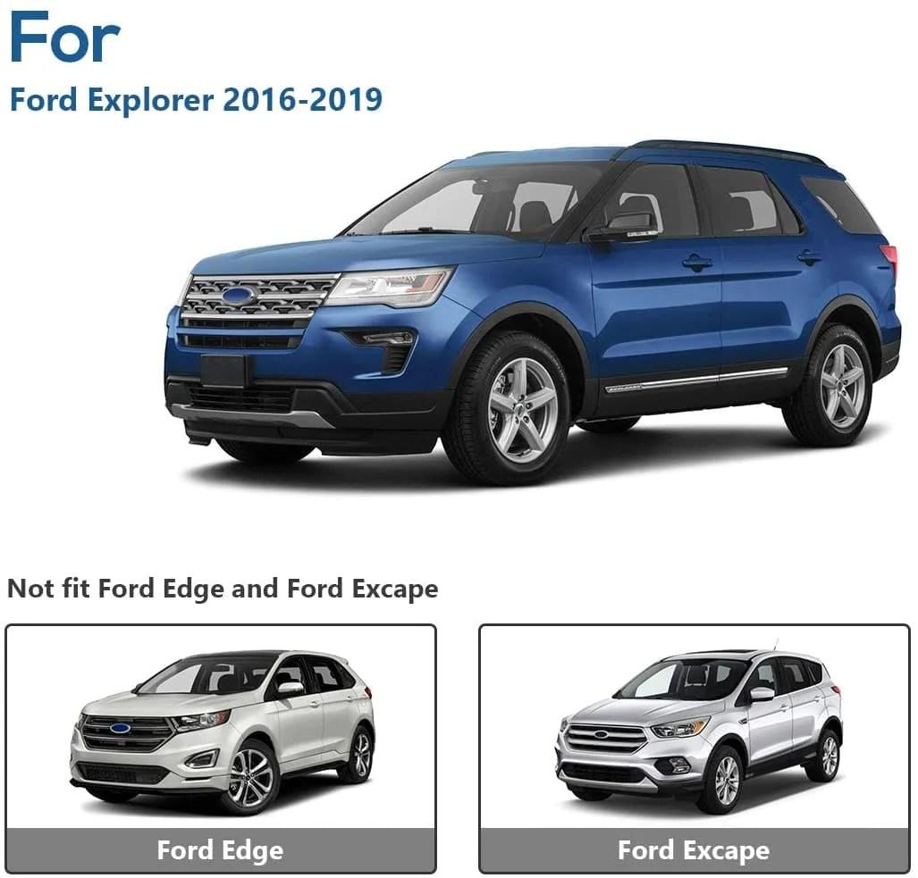2016 2019 ford explorer with side rails aluminum roof rack cross bars