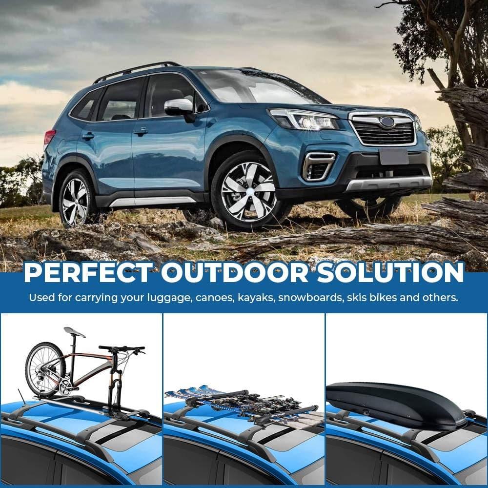 car roof rack cross bars for 2014 2021 subaru forester aluminum cross bar