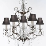 Wrought Iron Crystal Chandelier Chandeliers Lighting H 31 X W 24 Goo Gallery 67