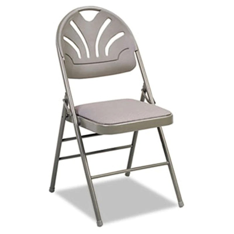 folding chair fabric small chairs for adults fanfare padded seat molded back set of 4
