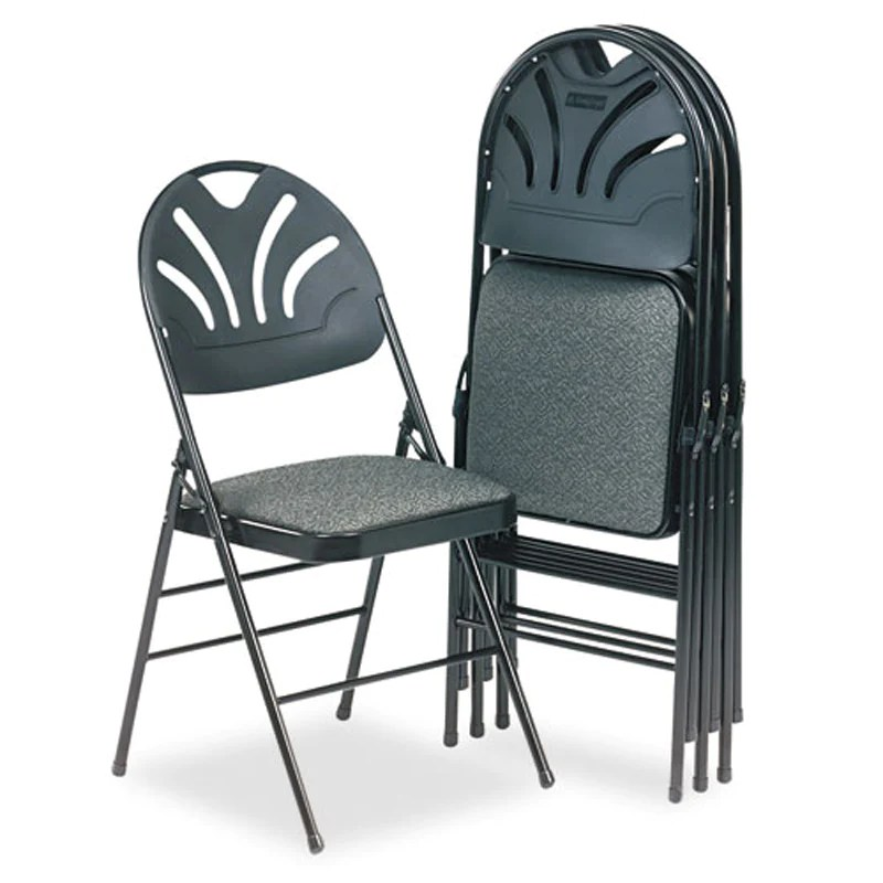 cloth padded folding chairs comfortable chair for reading fanfare fabric seat molded back set of 4