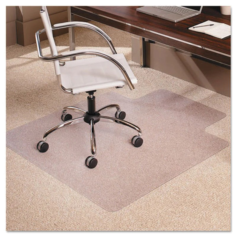 clear chair mat white leather club everlife low pile carpet ultimate office for