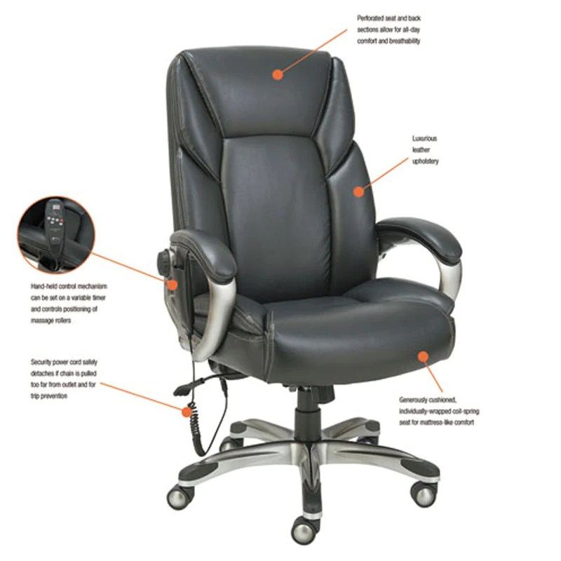 back massage chair slipcovers for oversized chairs and ottomans executive leather high shiatsu ultimate office