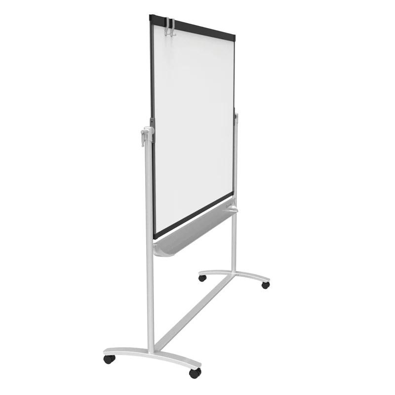 Reversible magnetic mobile whiteboard flipchart  graphite frame also frm rh ultimateoffice
