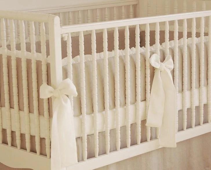 crib bumper linen crib bedding nursery bedding