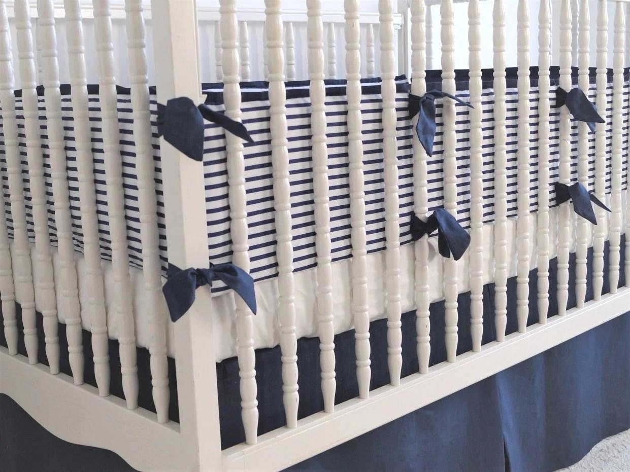 linen crib bedding set nautical