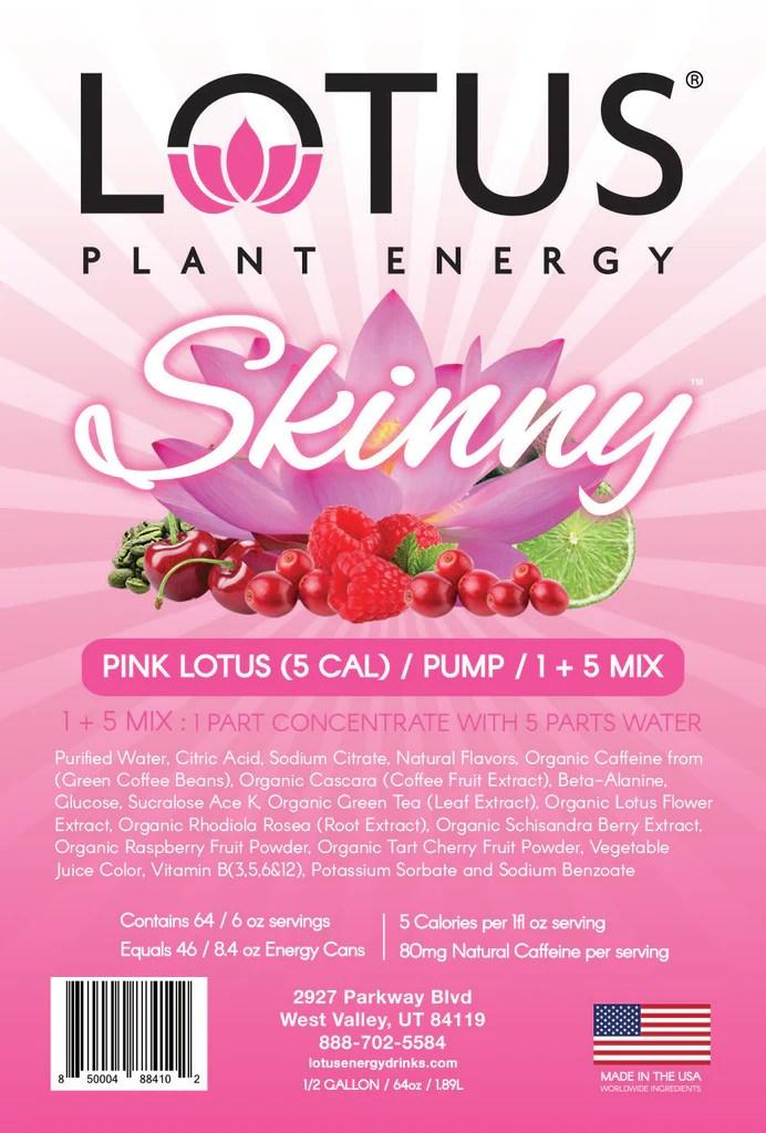 Diet Pink Lotus Energy Concentrate 1/2 Gallon Pump & Serve
