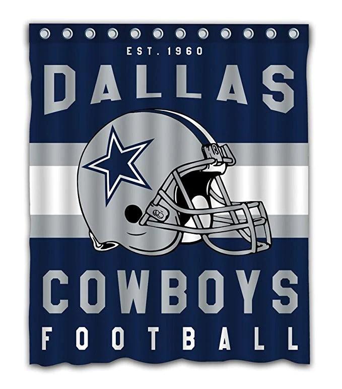 dallas cowboys football helm duschvorhang gojeek