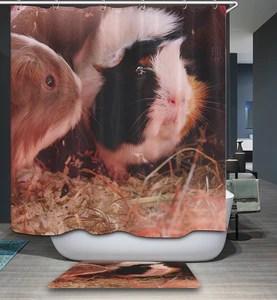 guinea pig shower curtain bathroom decor